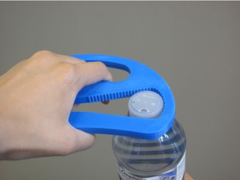 3d print Large Grip Plastic Bottle Opener 1