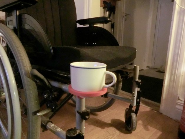 3d print Wheelchair cup holder 1