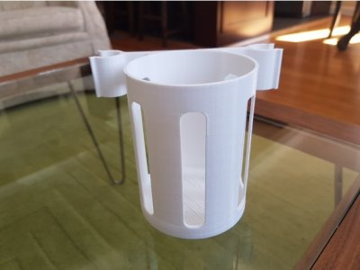 3d print beverage holder for crutches 2