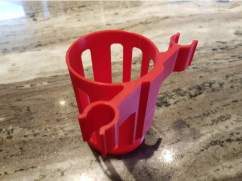 3d print beverage holder for crutches 4