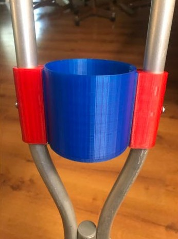 3d print closed cup holder for crutches 1