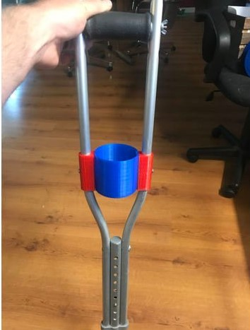 3d print closed cup holder for crutches 2