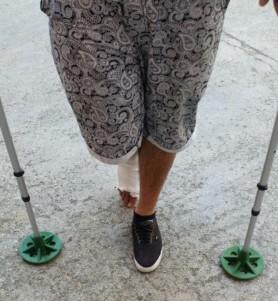 3d print Crutch Grip Tip Ends 2
