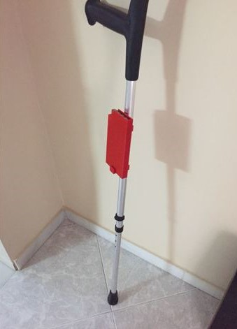 3d print Mobile Phone Holder for crutches 4
