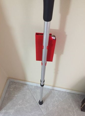 3d print Mobile Phone Holder for crutches 5