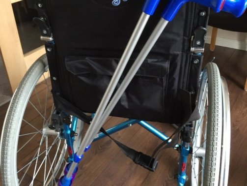 3d print wheelchair crutch carrier 1