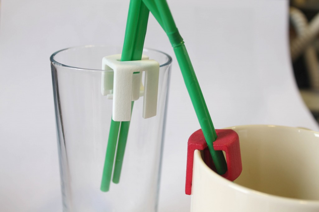 3d print double straw holder 1