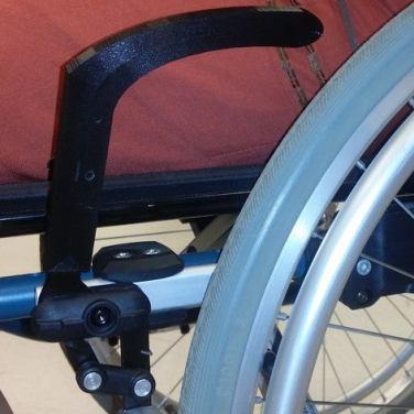 3d print wheelchair brake handle extender 2