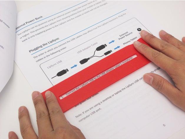 3d print Dyslexia Reading Bar (Flat)