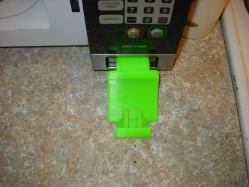 3d print microwave door opener 3
